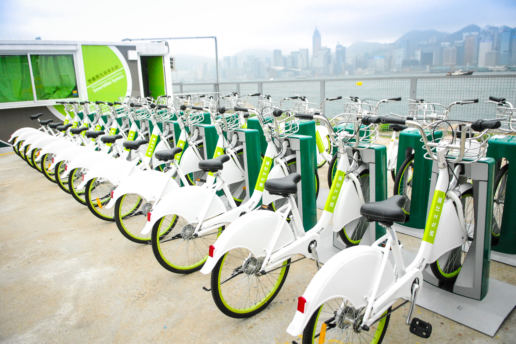 Street Furniture Smart Bike Sharing System West Kowloon Cultural District
