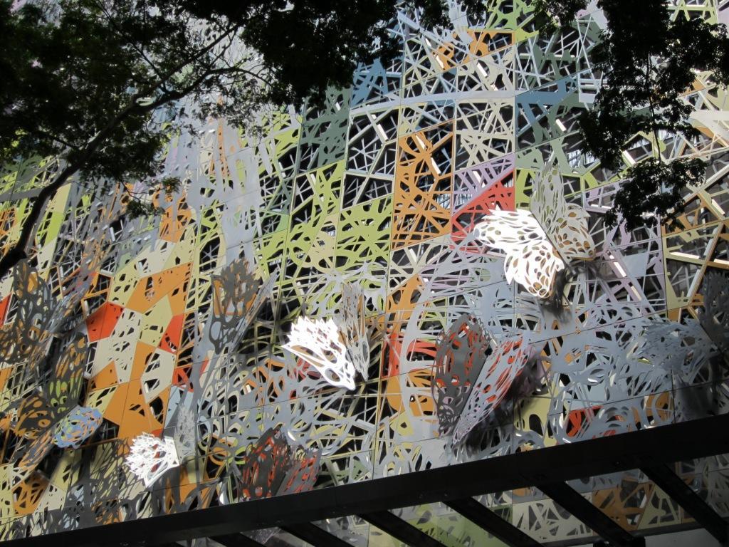 metal art façade winter garden mall brisbane 2012