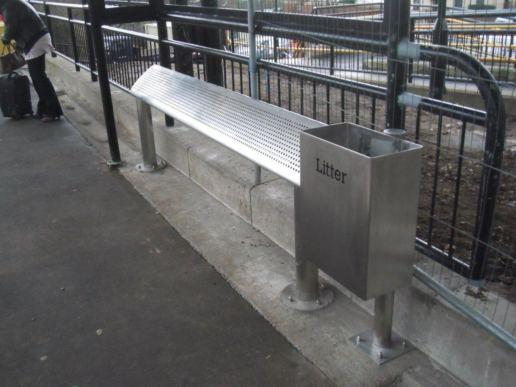 Street Furniture, Litter Bin & Perch Bench, UK, Program Contractors