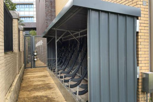 Cityplus 户外家具斜泊单车泊架及单车棚, 西贡惠民路, 2017