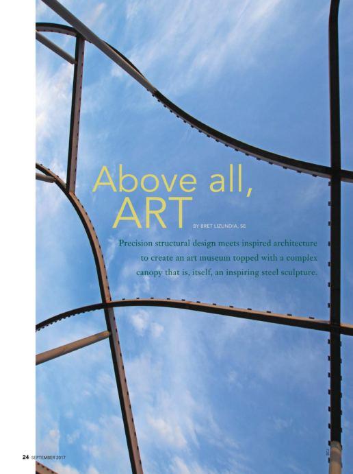 加利福尼亚州艺术博物馆 - Modern Steel Construction Magazine - 葆冈工程 - 金属遮阳上盖