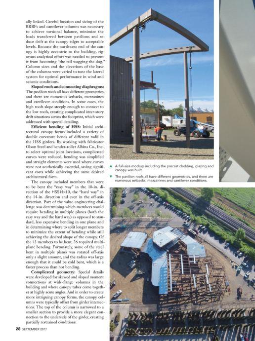 加利福尼亚州艺术博物馆 - Modern Steel Construction